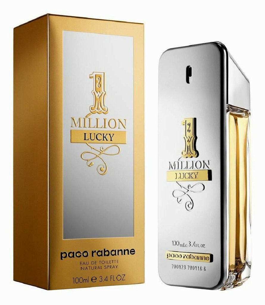 1 One Million Lucky Paco Rabanne EDT Spray For Men 3.4 oz