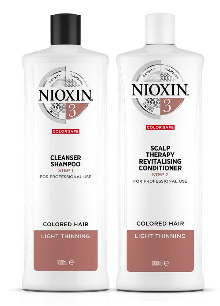 Nioxin System 3 Cleanser And Scalp Therapy Conditioner Duo 33.8 Oz/ 1L  NEW