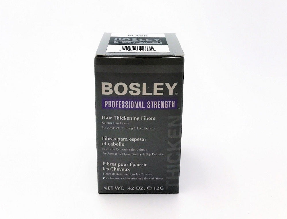 BOSLEY Hair Thickening Fibers Black  .42 Oz / 12 G