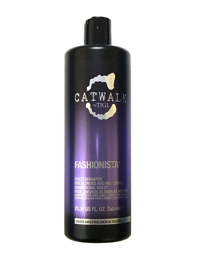 Tigi Catwalk Fashionista Violet Shampoo For Blondes And Highlights 25.36 Oz
