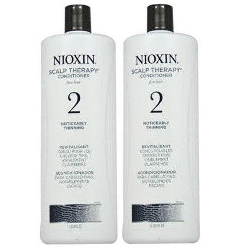 Nioxin System 2 Scalp Therapy Conditioner 33.8 Oz  PACK OF 2