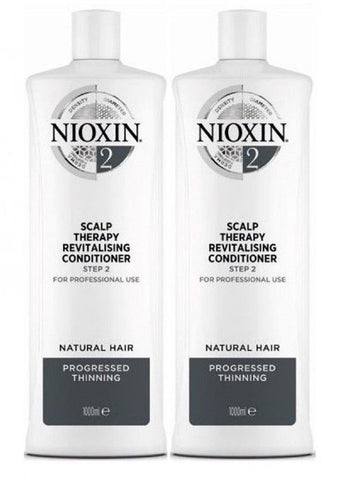 Nioxin System 2 Scalp Therapy conditioner 33.8 Oz / 1 L  PACK OF 2