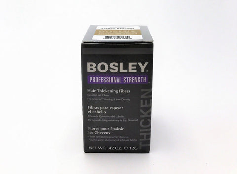 BOSLEY Hair Thickening Fibers  .42 Oz /12 G Light Brown