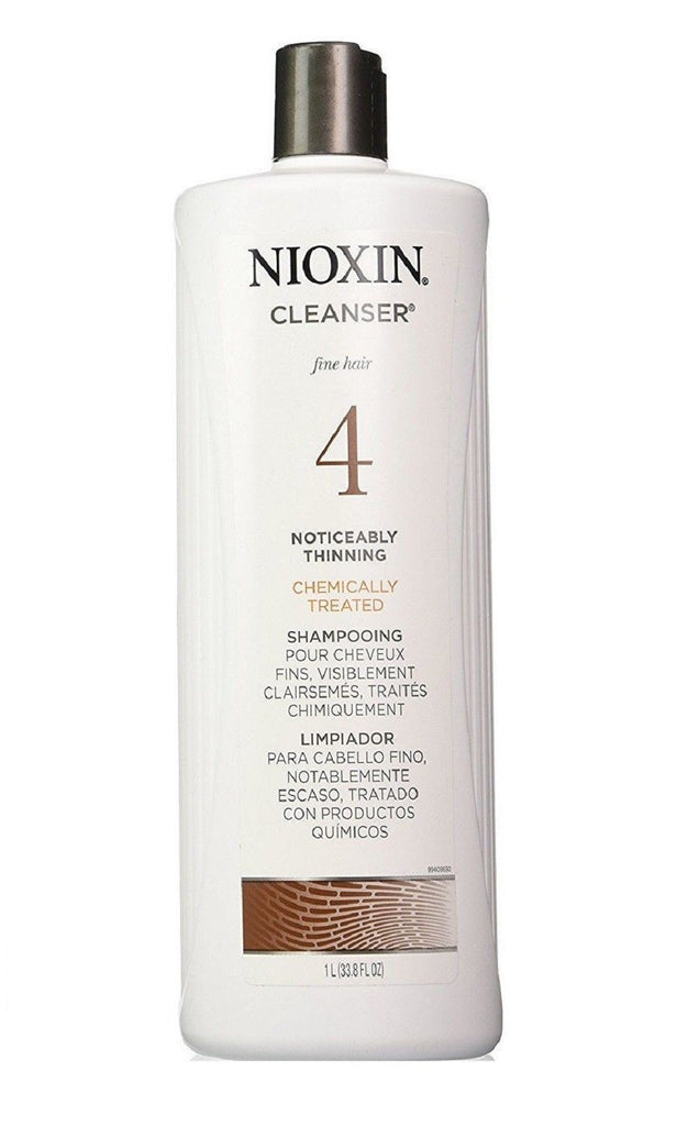 Nioxin System 4 Cleanser For Fine Treated Hair 33.8 Oz