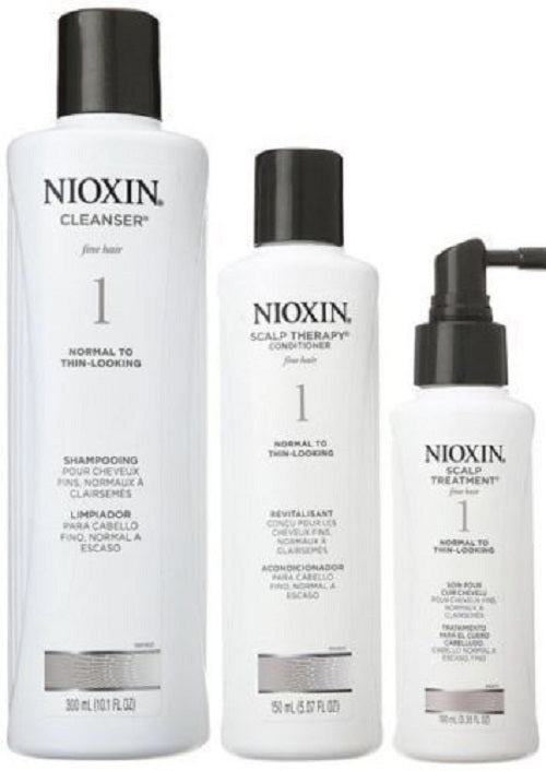 Nioxin System 1 Starter Kit  Shampoo 10.1oz Conditioner 5.07oz Treatment 3.38oz