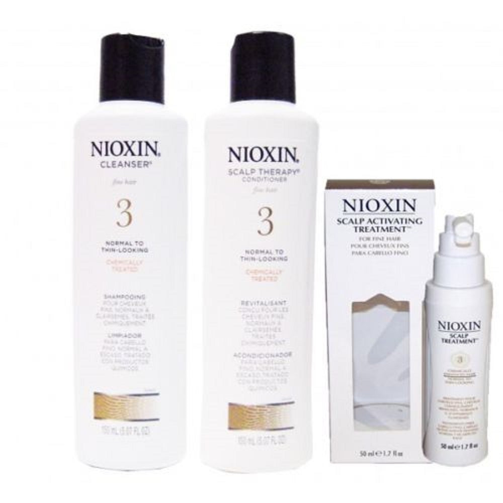 Nioxin System 3 Trio Kit Cleanser,Scalp Therapy And Scalp Treatment 5 Oz + 1.7 Oz