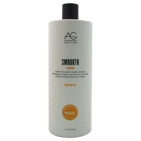 AG Hair Care Smooth Sulfate-Free Argan & Coconut Shampoo 33.8 oz Liter
