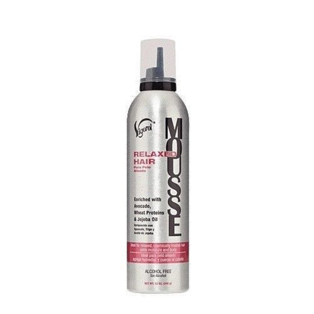 Vigorol Mousse Relaxed Hair 12 Oz  Dented