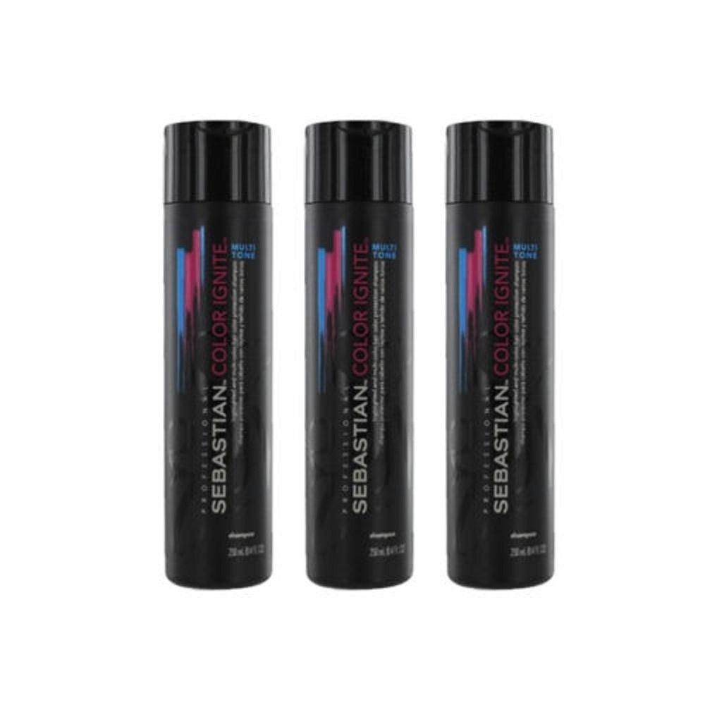 Sebastian Color Ignite Multi Tone Shampoo 8.4 oz  3 Pack