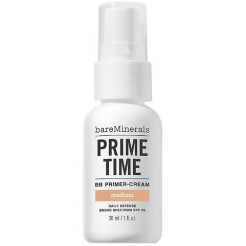 Bare Escentuals Prime Time BB Primer-Cream Daily Defense Spf 30 MEDIUM 1 Oz 30ML
