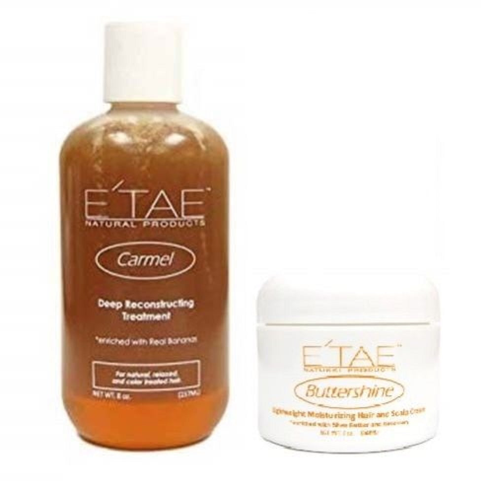 E'tae Carmel Deep Reconstructing Treatment 8 Oz And Scalp Cream 2 Oz