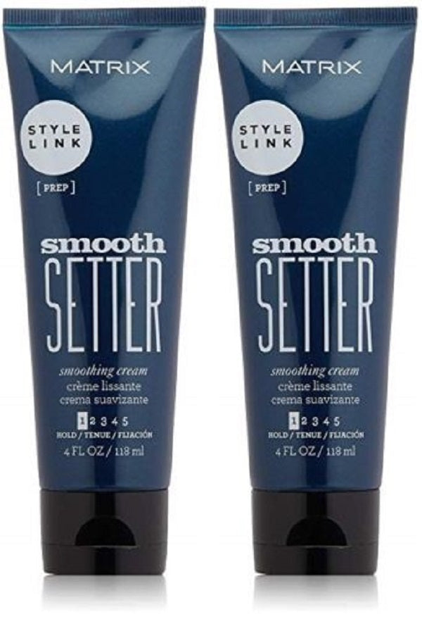 Matrix Style Link Smooth Setter Smoothing Cream For Frizzy Hair 4 Oz  Pack Of 2