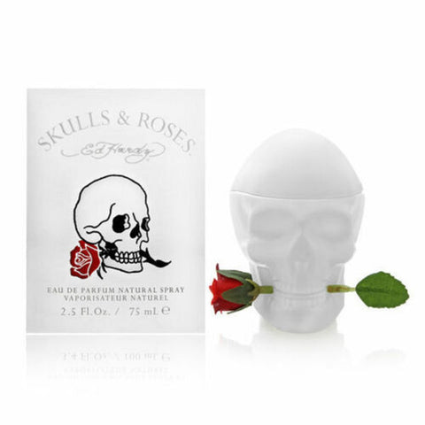 Ed Hardy Skulls Roses by Christian Audigier For Women 2.5 Oz EDP Spray Brand New