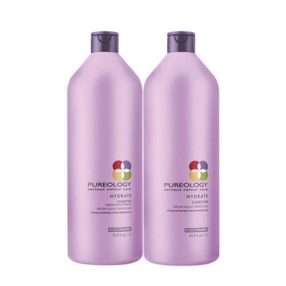 Pureology Hydrate Shampoo and Conditioner Duo/Set 33.8oz (Liter Size) 1 each