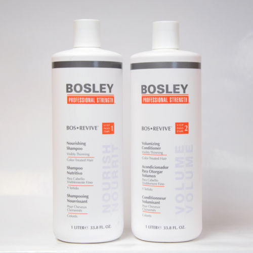 Bosley Revive Shampoo & Conditioner for Color Treated Hair Duo Set 33.8 Ounces