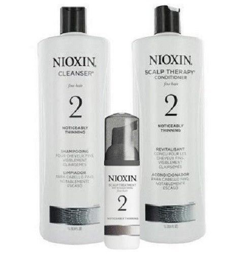 NIOXIN System 2 Cleanser & Scalp Therapy Duo Set 33.8oz each Treatment 3.4oz