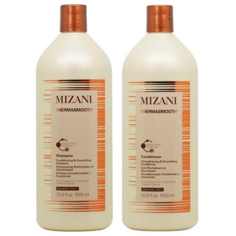 "Mizani Thermasmooth Shampoo + Conditioner 33.8oz Duo ""Set"""