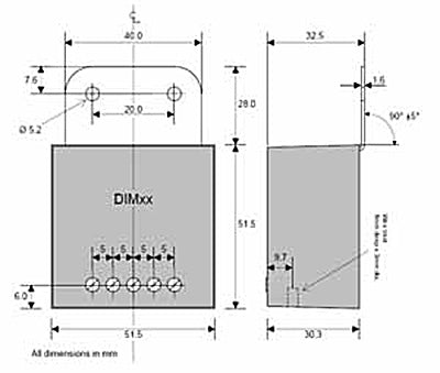 LED Marine PMW Dimmer dimensions