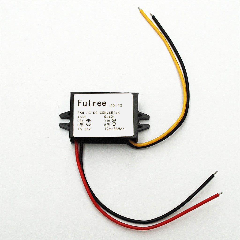 15-55V DC to 12V DC Voltage Convertor & Stabiliser: 36W