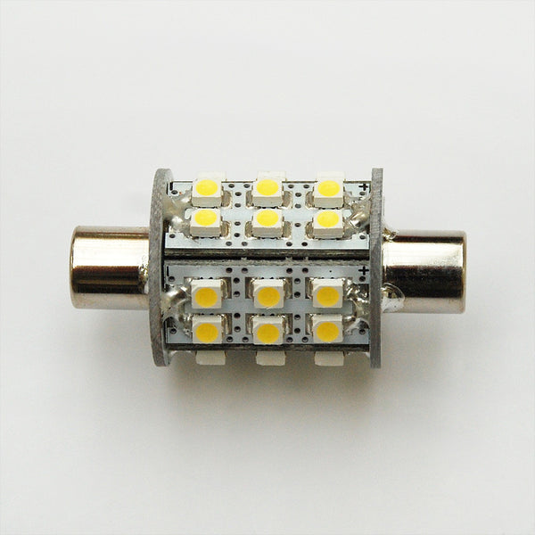 42mm 30 SMD 3528 LED Festoon Lamp: Dimple Ended
