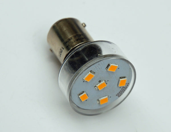 BA15D 6 SMD 2835 High Output LED Lamp: Short Neck