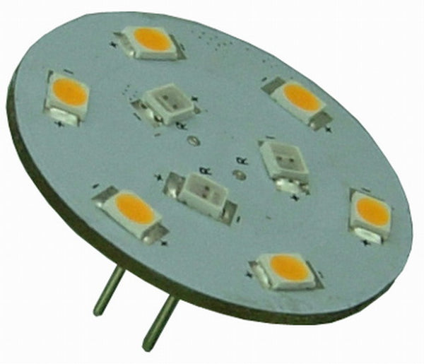 G4 9 SMD 2835 LED Planar Disc Lamp: Long Back Pin, Red / Warm White