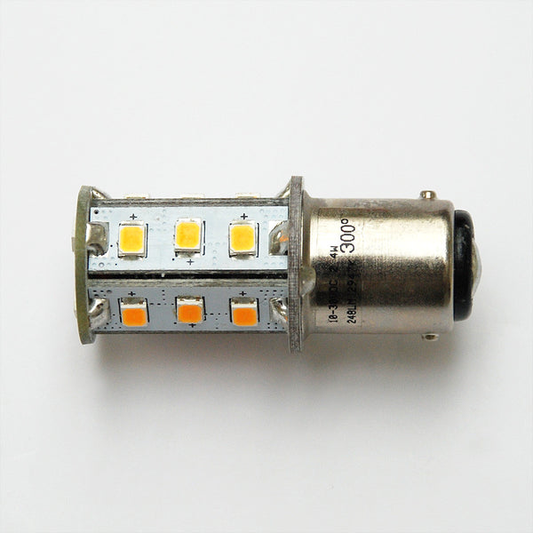 Warm White BA15D 18 SMD 2835 High Output LED Compact Lamp