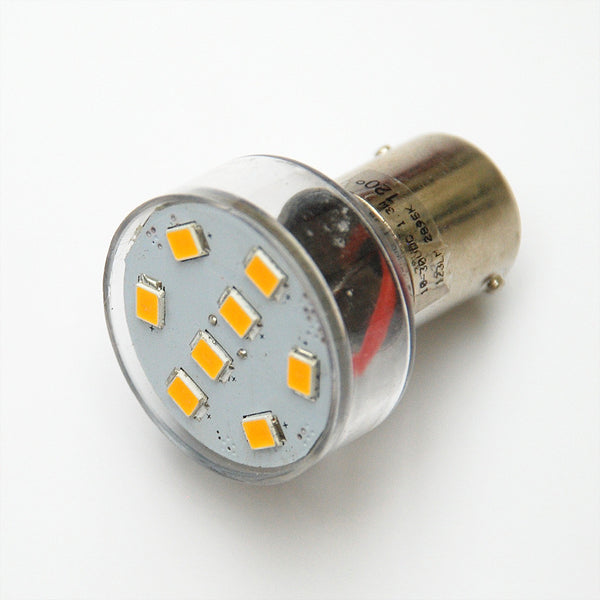 BA15D 8 SMD 2835 High Output LED Lamp: Short Neck