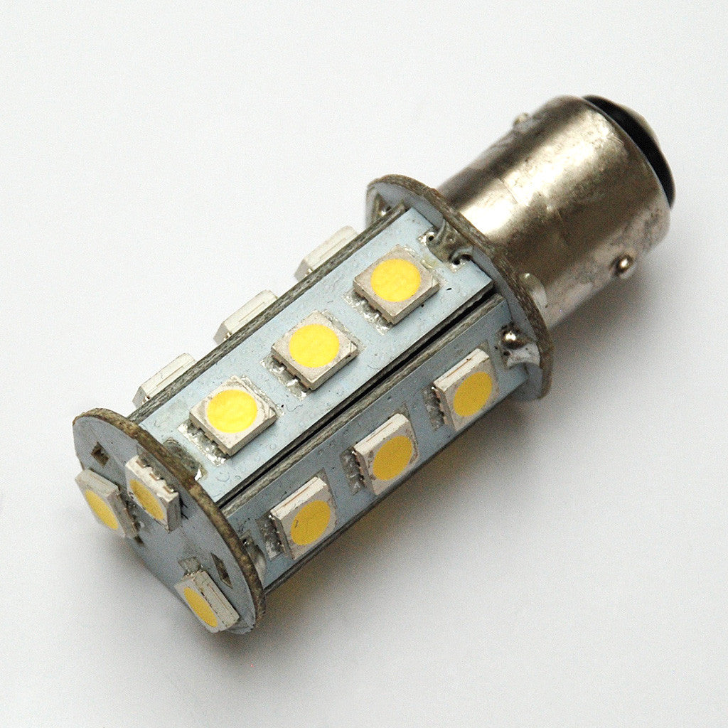Cool White BAY15D 18 SMD 5050 LED Bulbs for Navigation Lights