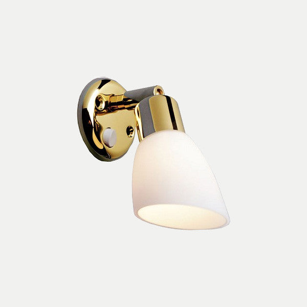 Bunk Side LED Reading Light: Opal Lacquered Brass