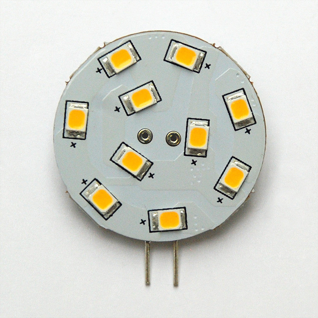 G4 10 SMD 2835 LED Planar Disc Lamp: Side Pin