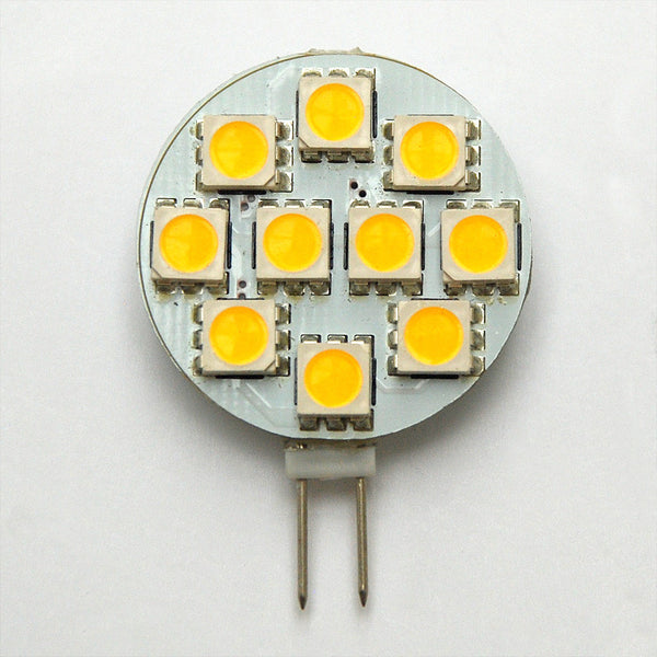 G4 10 SMD 5050 LED Planar Disc Lamp: 12V