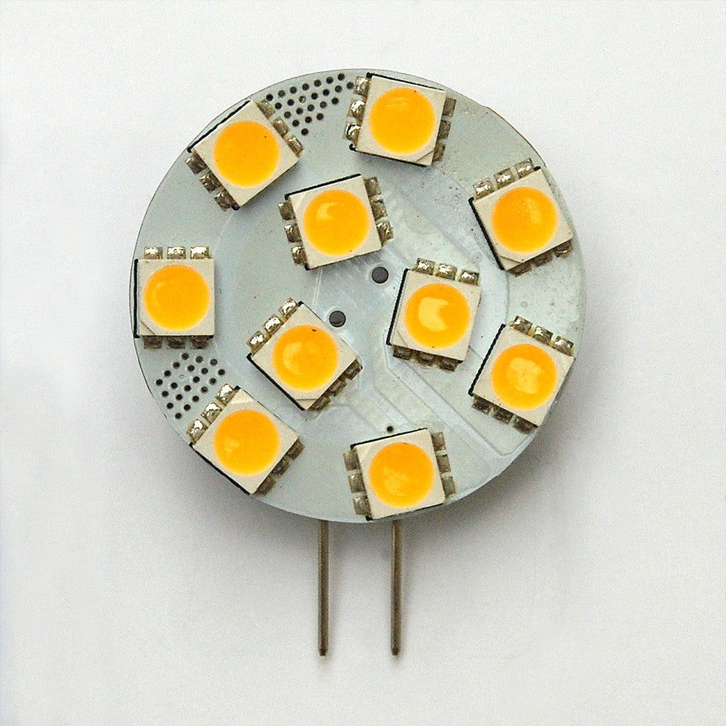 G4 10 SMD 5050 LED Planar Disc Lamp: Side Pin