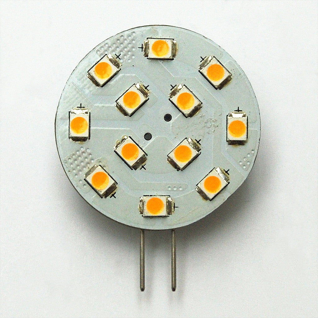 G4 12 SMD 2835 LED Planar Disc Lamp: Side Pin