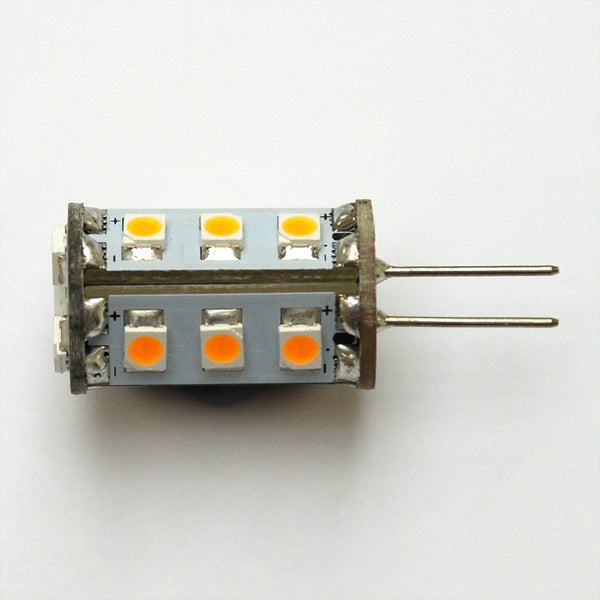 Warm White G4 15 SMD 3528 Bi-Pin LED Tower Lamp