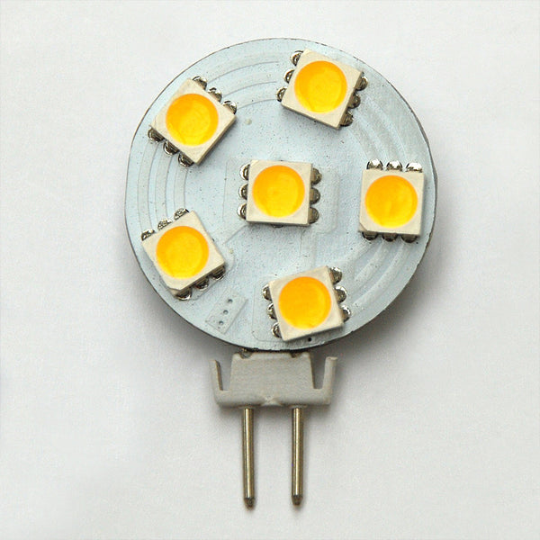 G4 6 SMD 5050 LED Planar Disc Lamp: 12V