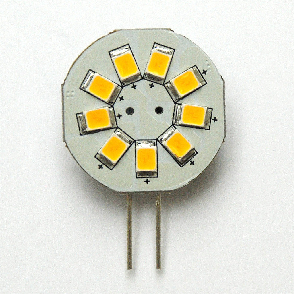 G4 9 SMD 2835 LED Planar Disc Lamp: Side Pin