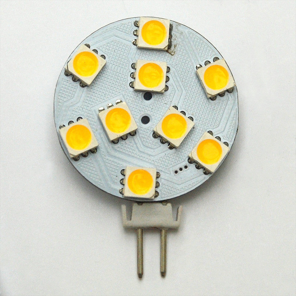 G4 9 SMD 5050 LED Planar Disc Lamp: 13V