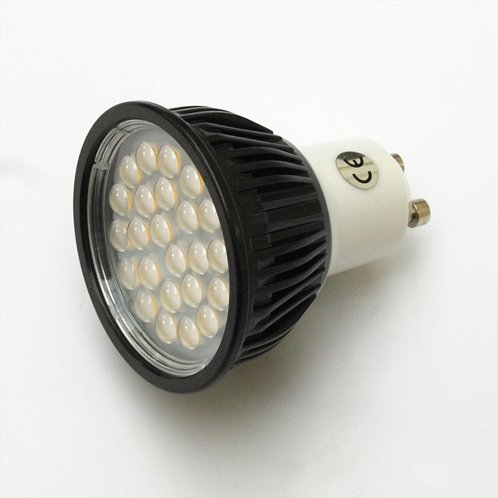 GU10 5W 24 SMD LED Lamp 40W Halogen Replacement: 230V, 30-deg