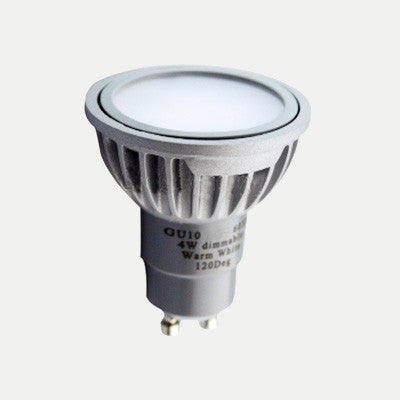 GU10 4W LED 35W Halogen Lamp Replacement: 230V, 30-deg, Dimmable
