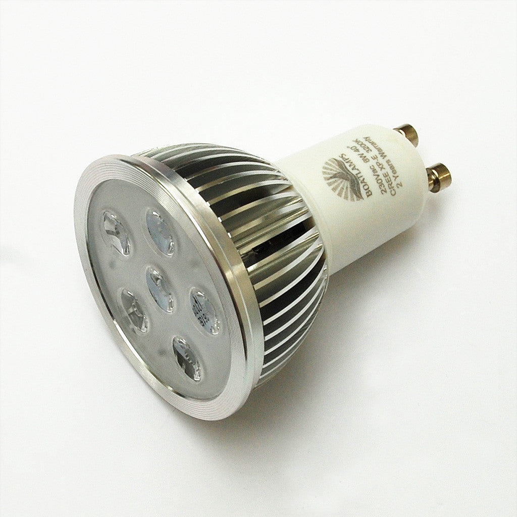 gu10 6w cree led lamp 50w halogen replacement 230v 40 deg boatlamps. Black Bedroom Furniture Sets. Home Design Ideas