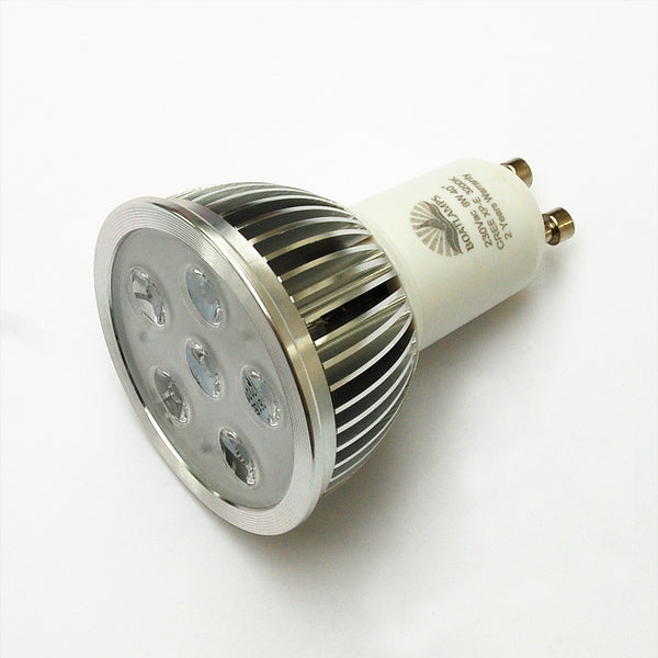 GU10 6W Cree LED Lamp 50W Halogen Replacement: 230V, 40-deg