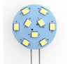 G4 9 SMD 2835 LED Planar Disc Lamp, High Output: Side Pin, Protected