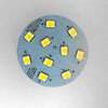 G4 10 SMD 2835 High Output LED Planar Disc Lamp: Back Long Pin, Protected