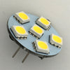 G4 6 SMD 5050 LED Planar Disc Lamp: Back Pin