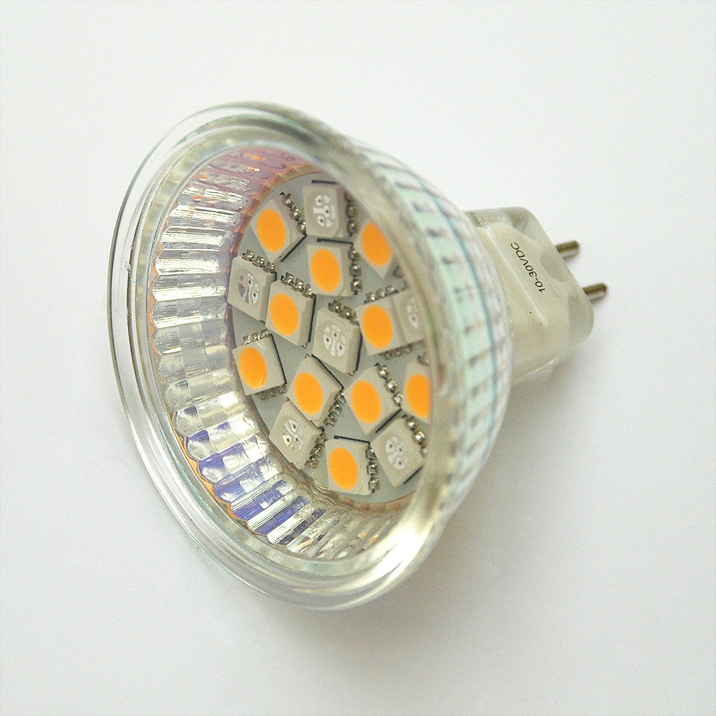 MR16 16 SMD 5050 Red / White Switchable LED Lamp