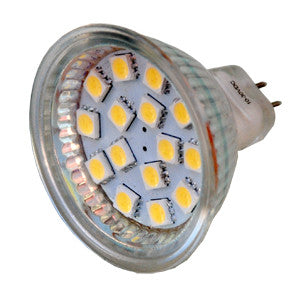 MR16 15 SMD 5050 LED Bulb - Glass Covered