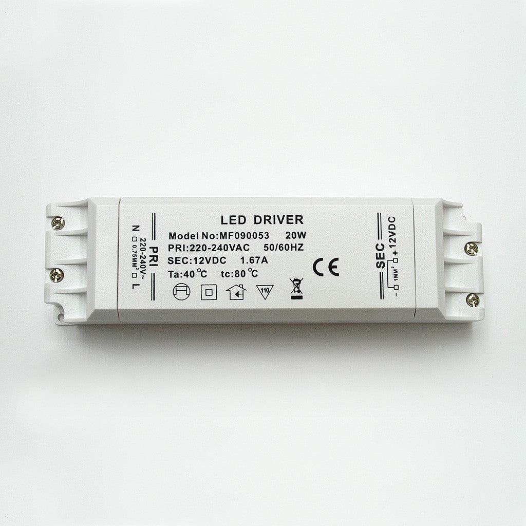 Non Waterproof LED Driver: Constant Voltage 12V / 20W from AC 230V