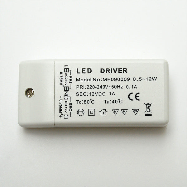 Non Waterproof LED Driver: Constant Voltage 12V / 12W from AC 230V