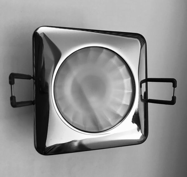 Cantalupi Quadro Recessed Down Light - Stainless Steel Bezel - c/w LED Lamp